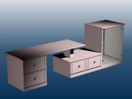 Wall units furniture 3d model