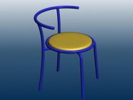 Metal bar chair 3d model