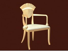 Antique furniture chair 3d model
