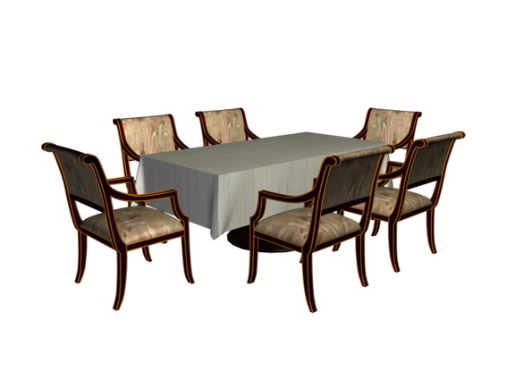 6 Person dining room set 3d model 3D Studio3ds max files  : 1 150326163426 from www.cadnav.com size 567 x 425 jpeg 47kB