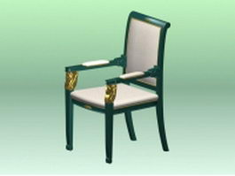 Antique chair with arms 3d model