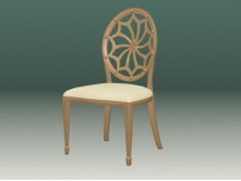 Carved back chair 3d model