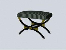X bench ottoman 3d model