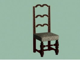 Antique carved chair 3d model