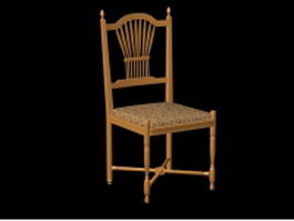 Antique wooden chair 3d model