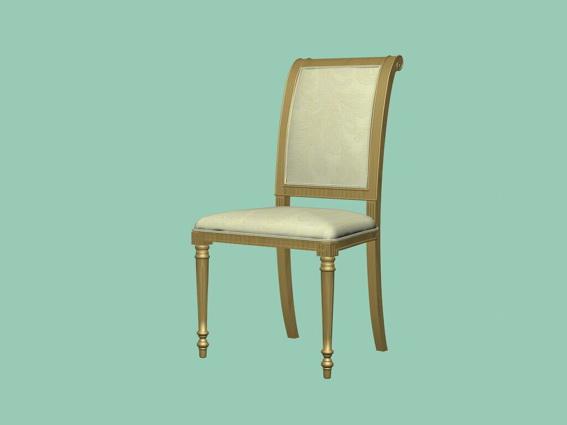 White dining chair 3d model 3D Studio3ds max files free  : 1 15032GR420 from www.cadnav.com size 567 x 425 jpeg 26kB