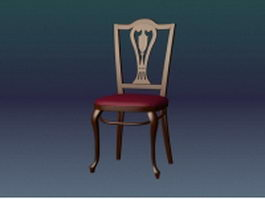 Vintage dining chair 3d model