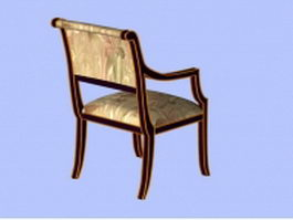 Wood accent chair 3d model