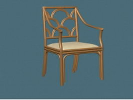 Antique arm chair 3d model