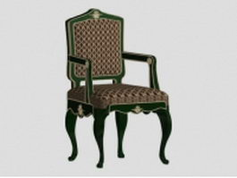 Antique accent chair 3d model