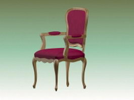 Pink accent chair 3d model