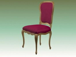 Pink upholstered dining chair 3d model