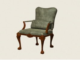 Vintage accent chair 3d model