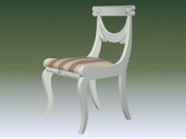 Antique white accent chairs 3d model