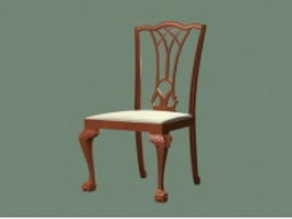 Antique dining chair 3d model