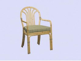 Bamboo armchair 3d model