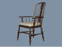 Windsor chair with arms 3d model