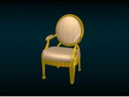 Antique Victorian chair 3d model