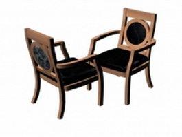 Antique reception chairs 3d model