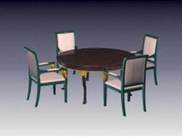 Antique dining room sets 3d model