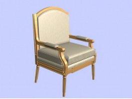 Retro armchair 3d model