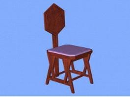 Unique antique chair 3d model