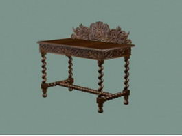 Antique console table furniture 3d model