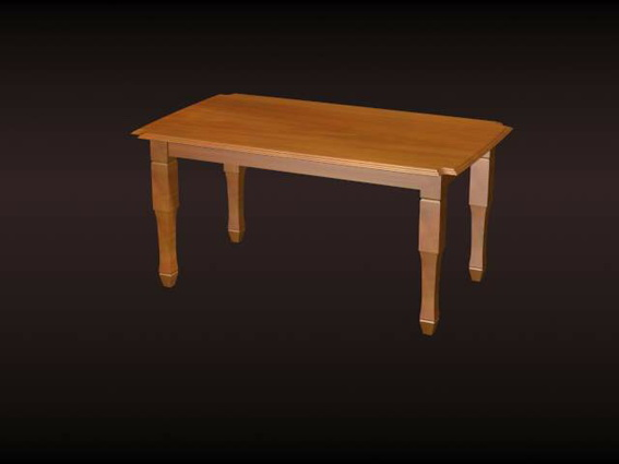 Wooden dining table 3d model 3d studio 3ds max files free for Dining room table 3ds max