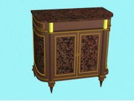 Vintage console cabinet 3d model
