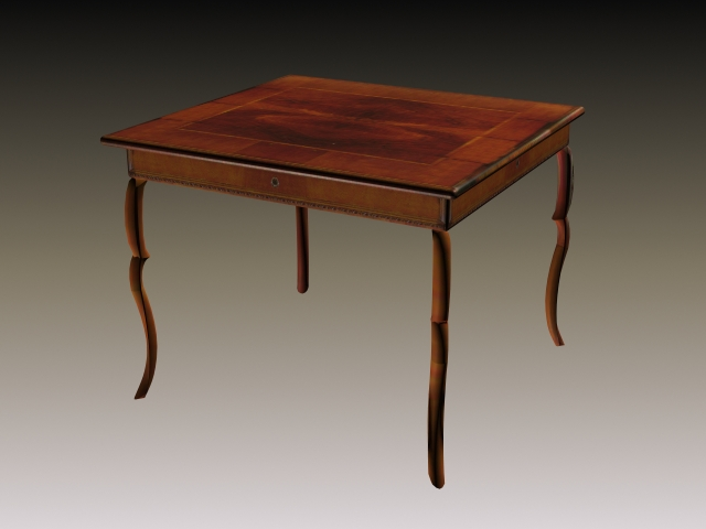 Rustic dining table 3d model 3d studio 3ds max files free for Dining room table 3ds max