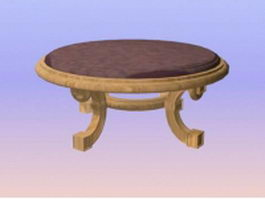 Round banquet table 3d model