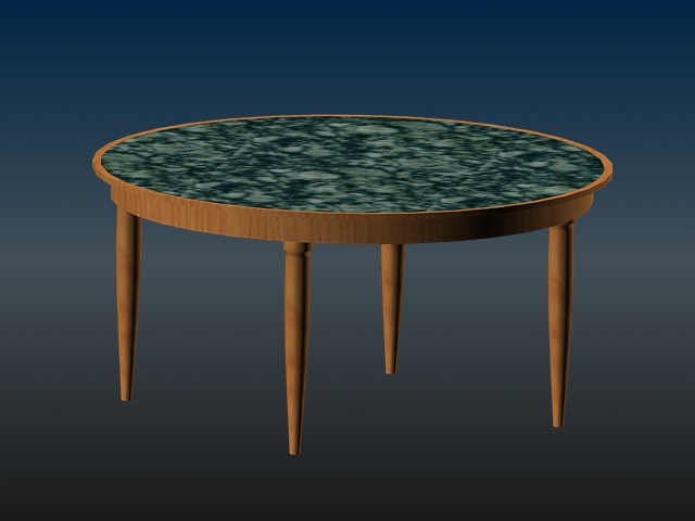 marble top dining table 3d model 3d studio