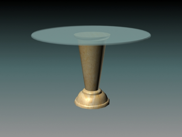 Glass top marble dining table 3d model 3D Studio3ds max  : 1 150331205036 from www.cadnav.com size 640 x 480 jpeg 86kB
