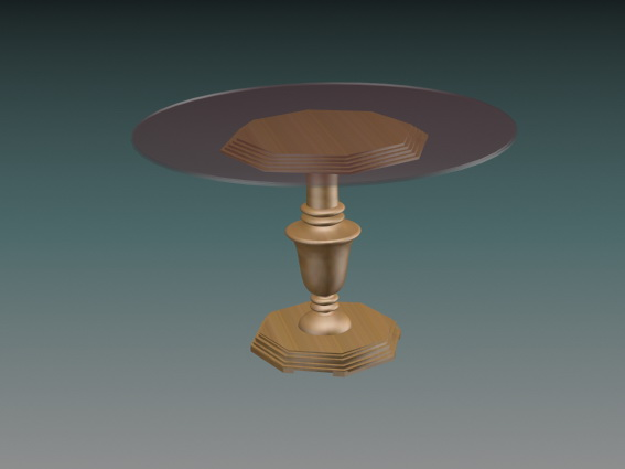 Round glass top dining table 3d model 3D Studio3ds max  : 1 150331205625 from www.cadnav.com size 567 x 425 jpeg 29kB