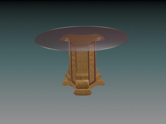 Glass top pedestal dining table 3d model 3D Studio3ds max  : 1 150331205928 from www.cadnav.com size 567 x 425 jpeg 30kB