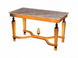 Antique marble top table 3d model