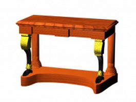 Antique console table 3d model