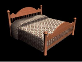 Mission style bed 3d model