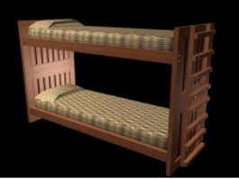 Rustic bunk bed 3d model