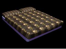 Floor mattress bed 3d model