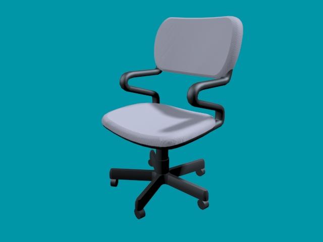 Office Revolving Chair 3d Model 3d Studio 3ds Max Files