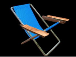 Beach folding chair 3d model