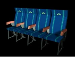 Cinema chairs 3d model