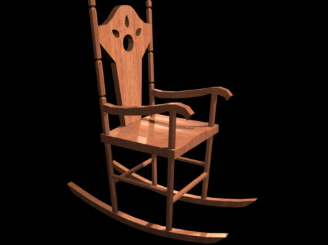 Remarkable Victorian Antique Rocking Chair 3D Model Cadnav Beatyapartments Chair Design Images Beatyapartmentscom