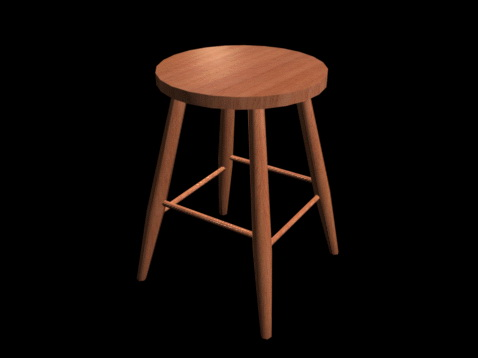 Round Wood Bar Stool 3d Model 3d Studio 3ds Max Files Free