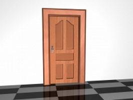5 Panel door 3d model