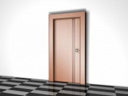Flush wood door 3d model