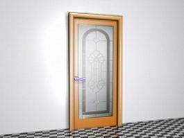 Patterned glass door 3d model