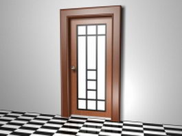 Frosted glass interior door 3d model