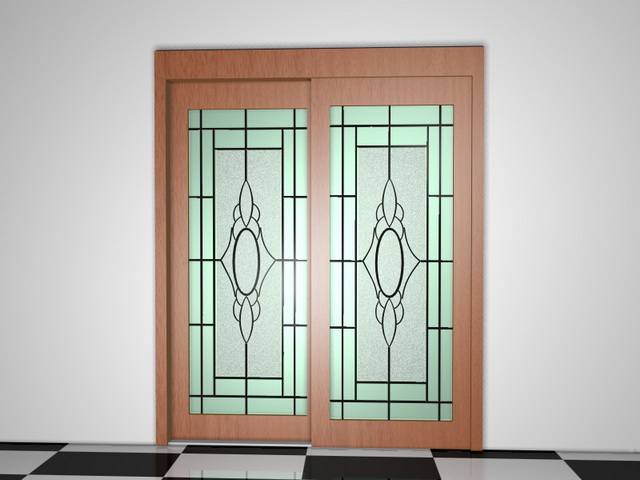 Wood French Patio Doors 3d Model 3d Studio3ds Max Files Free